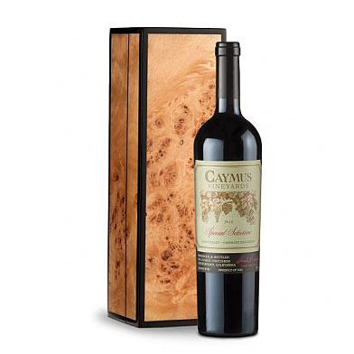 Luxury Wine in Handcrafted Burlwood Box