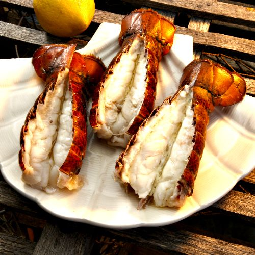 Grilled Lobster Tails for the BBQ