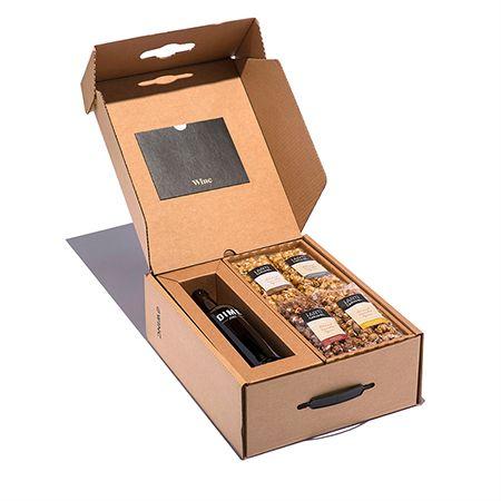 Red Blend & Caramel Corn in Gift Box