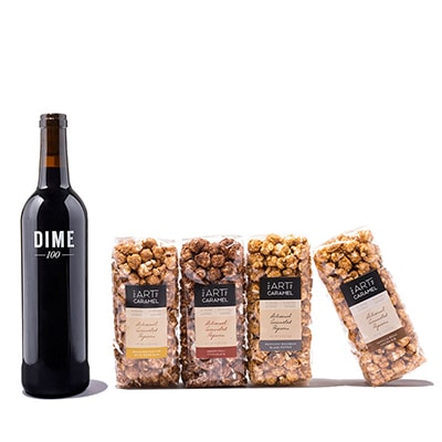 Wine Gift: Bordeaux-Blend and Popcorn in a Gift Box
