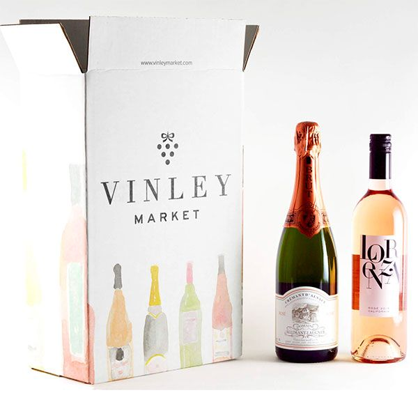 Wine Gift: Two Bottles of Rosé & Sparkling Wine