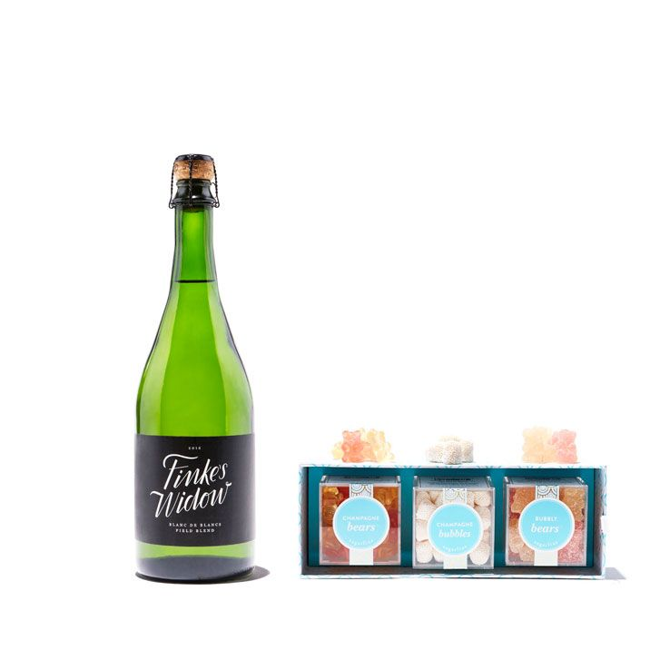 Sparkling Wine & Sugarfina Gummy Bears
