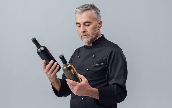 A man choosing a wine