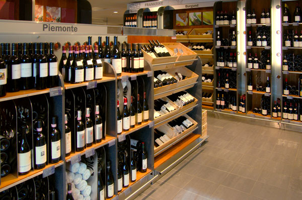 A wine store with a large selection