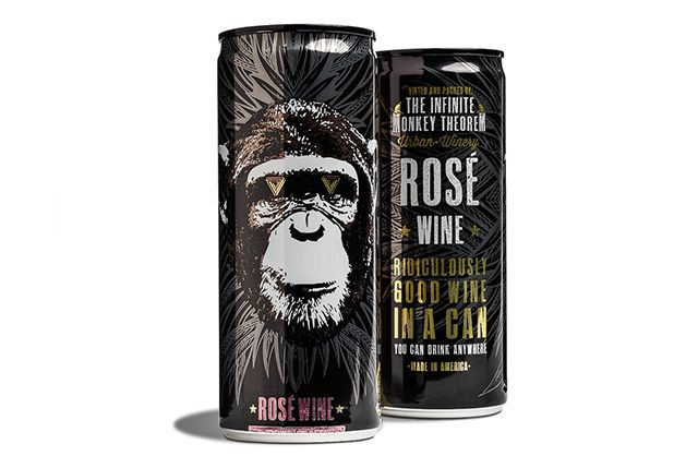 Infinite Monkey Theorem Rosé in a Can